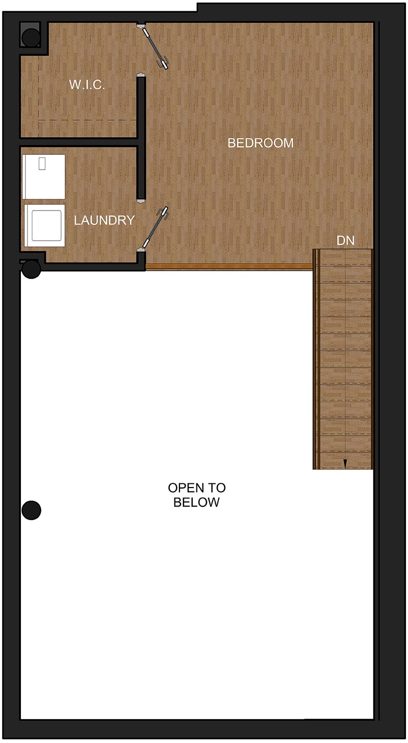 Loft Bedroom in Troy NY, Floor Plan for McCarthy Modern Heritage Lofts
