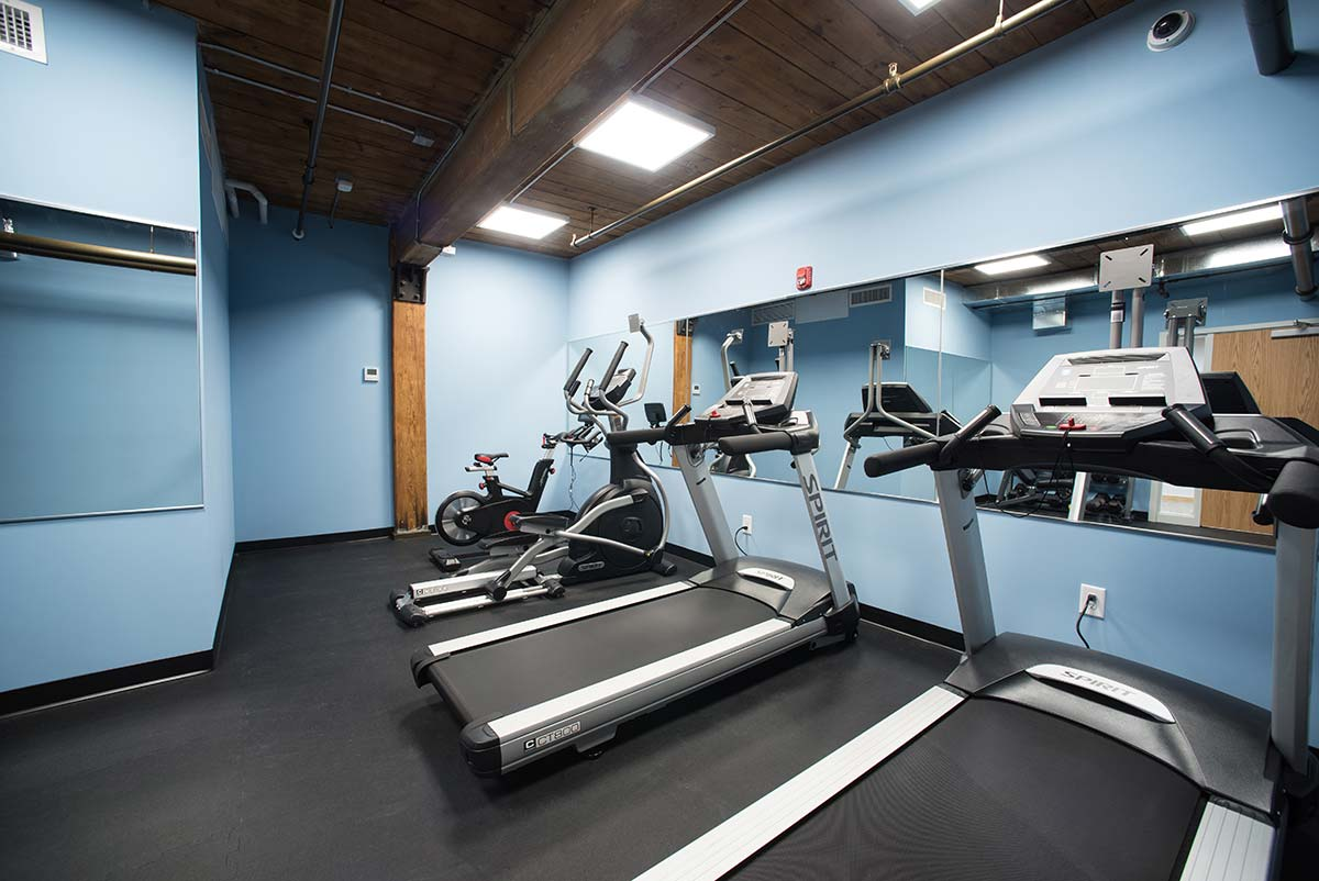 Basement Fitness Center treadmills
